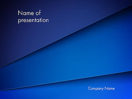 Abstract Blue Tilted Layers PowerPoint Template