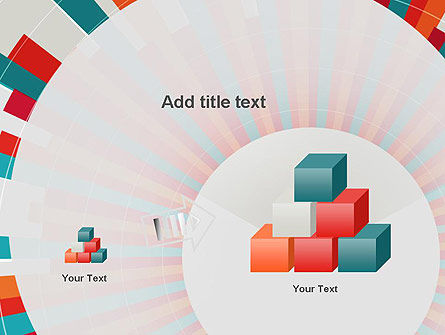 Colorful Radial Lines PowerPoint Template Slide 13