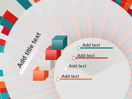 Colorful Radial Lines PowerPoint Template Slide 14
