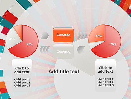 Colorful Radial Lines PowerPoint Template Slide 16