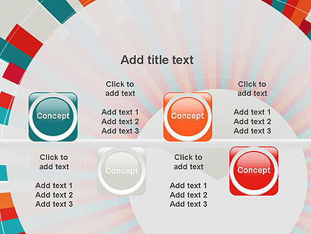Colorful Radial Lines PowerPoint Template Slide 18