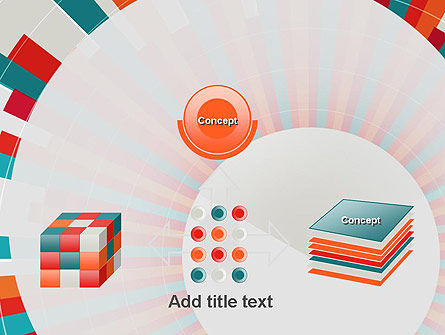 Colorful Radial Lines PowerPoint Template Slide 19