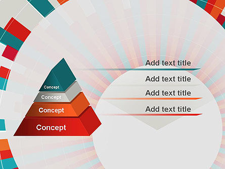 Colorful Radial Lines PowerPoint Template Slide 4