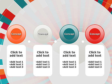 Colorful Radial Lines PowerPoint Template Slide 5