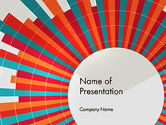 Abstract/Textures: Colorful Radial Lines PowerPoint Template #12304