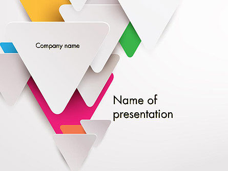 Abstract/Textures: Layered Triangles PowerPoint Template #12306