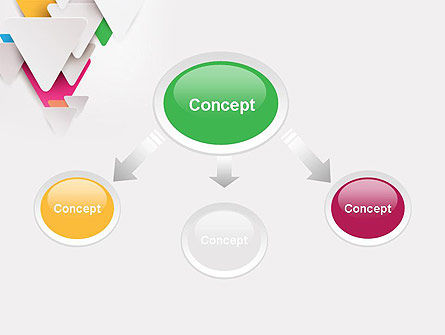 Layered Triangles PowerPoint Template Slide 4