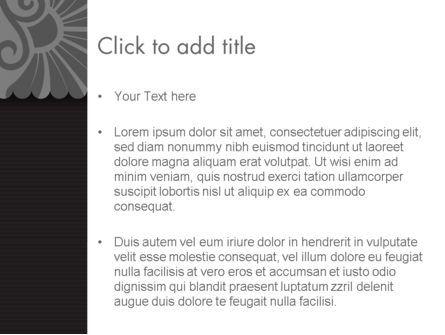 Black Floral Pattern PowerPoint Template, Slide 3, 12307, Abstract/Textures — PoweredTemplate.com
