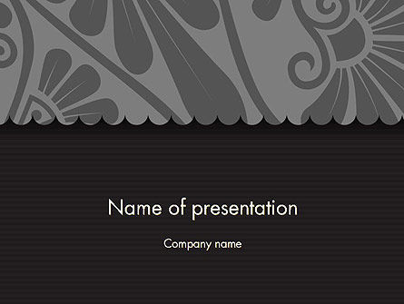 Abstract/Textures: Black Floral Pattern PowerPoint Template #12307