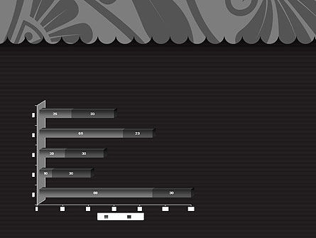 Black Floral Pattern PowerPoint Template Slide 11