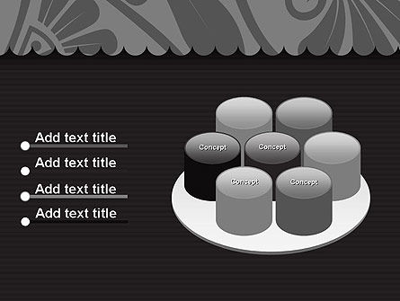 Black Floral Pattern PowerPoint Template Slide 12