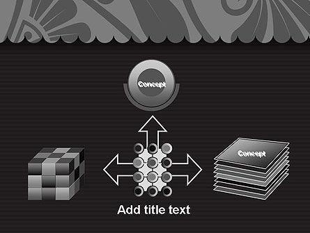 Black Floral Pattern PowerPoint Template Slide 19