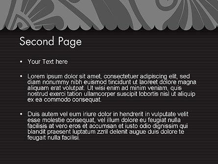 Black Floral Pattern PowerPoint Template, Slide 2, 12307, Abstract/Textures — PoweredTemplate.com