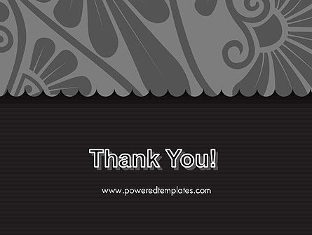 Black Floral Pattern PowerPoint Template Slide 20