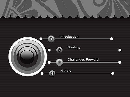 Black Floral Pattern PowerPoint Template Slide 3
