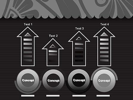 Black Floral Pattern PowerPoint Template Slide 7
