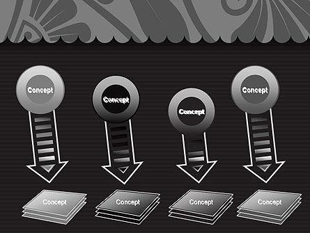 Black Floral Pattern PowerPoint Template Slide 8