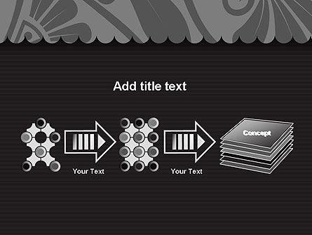 Black Floral Pattern PowerPoint Template Slide 9