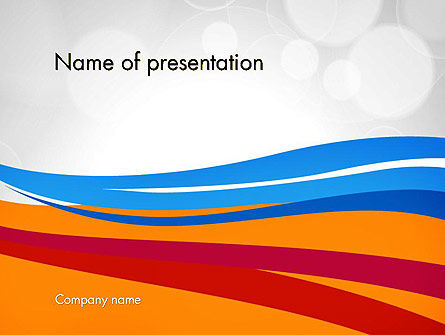 Waving Lines PowerPoint Template