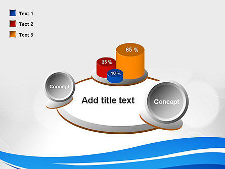 Waving Lines PowerPoint Template Slide 16