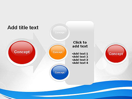 Waving Lines PowerPoint Template Slide 17