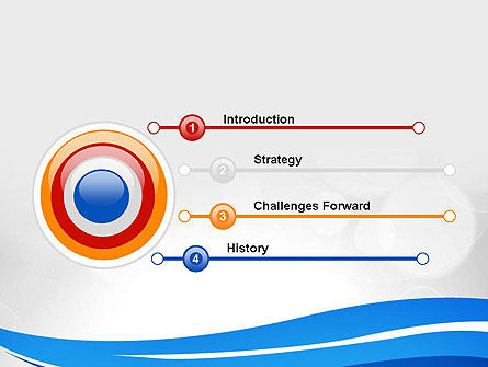 Waving Lines PowerPoint Template Slide 3
