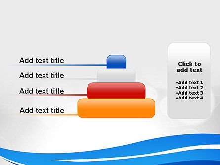 Waving Lines PowerPoint Template Slide 8