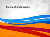 Abstract/Textures: Waving Lines PowerPoint Template #12308
