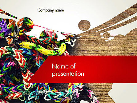 Rubber Band Bracelets PowerPoint Template