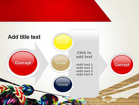 Rubber Band Bracelets PowerPoint Template Slide 17