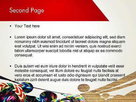 Rubber Band Bracelets PowerPoint Template Slide 2