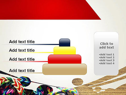 Rubber Band Bracelets PowerPoint Template Slide 8