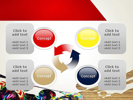 Rubber Band Bracelets PowerPoint Template Slide 9