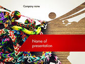 Art & Entertainment: Rubber Band Bracelets PowerPoint Template #12311