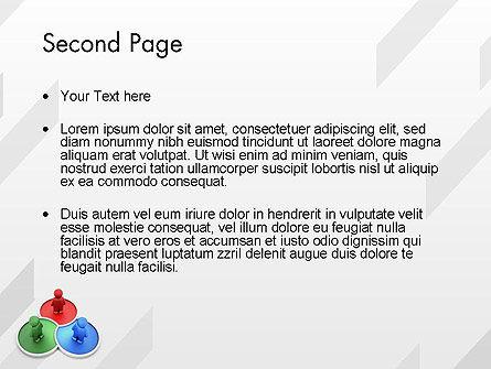 3D Men on RGB Platforms PowerPoint Template Slide 2