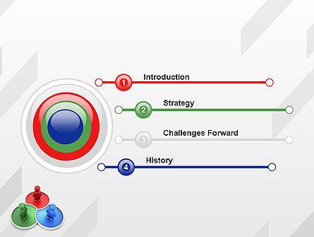 3D Men on RGB Platforms PowerPoint Template Slide 3