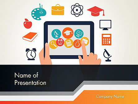Education & Training: E-learning Icons PowerPoint Template #12313