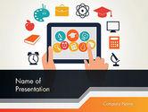 Education & Training: 파워포인트 템플릿 - 전자 학습 아이콘 #12313