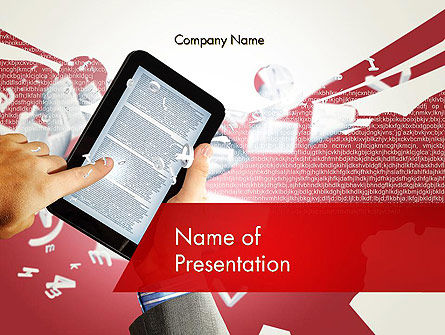 Education & Training: E-reading PowerPoint Template #12314