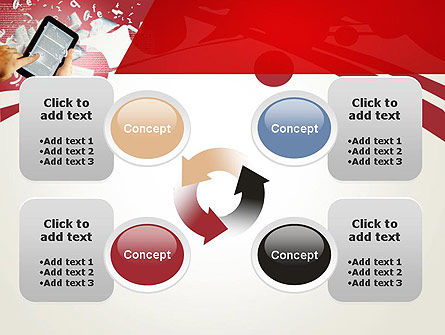E-reading PowerPoint Template Slide 9