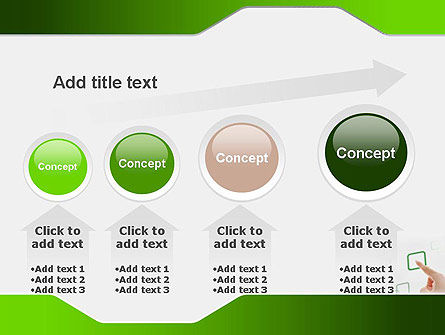 Hand Touching a Button PowerPoint Template Slide 13