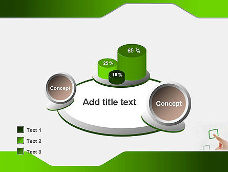 Hand Touching a Button PowerPoint Template Slide 16