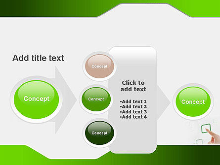 Hand Touching a Button PowerPoint Template Slide 17