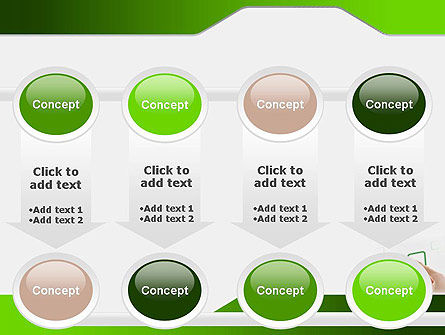 Hand Touching a Button PowerPoint Template Slide 18