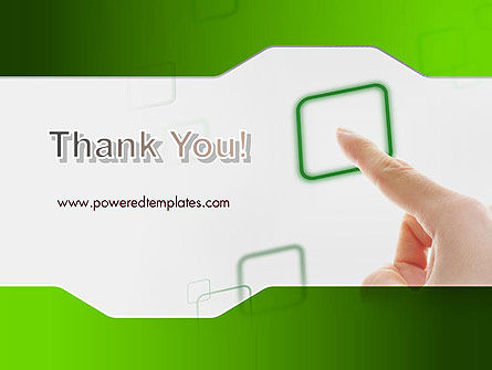 Hand Touching a Button PowerPoint Template Slide 20