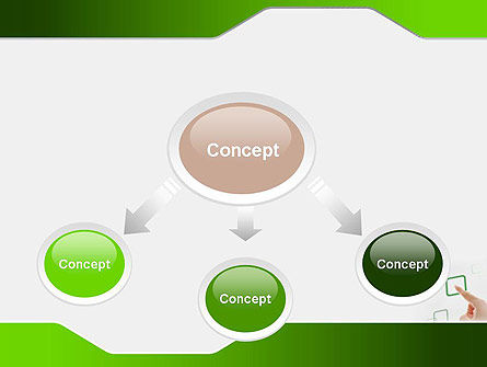 Hand Touching a Button PowerPoint Template Slide 4