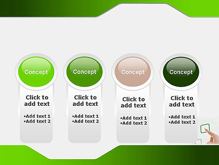 Hand Touching a Button PowerPoint Template Slide 5