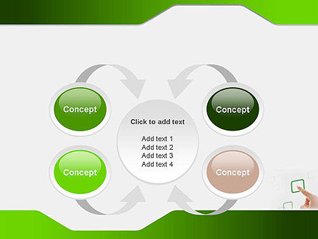 Hand Touching a Button PowerPoint Template Slide 6
