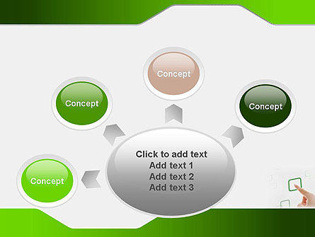 Hand Touching a Button PowerPoint Template Slide 7