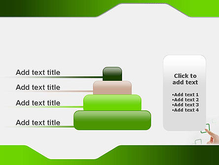 Hand Touching a Button PowerPoint Template Slide 8